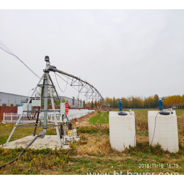 Center Pivot Irrigation with Fertilization system
