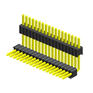 1.27mm Pitch Single Row Double Plastic Angle Type3
