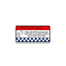 Creative GPS Alarm System Smart Car Sticker Accessories Vinyl PVC 11cm*5cm Motorcycle Waterproof Windshield Car Styling Decal