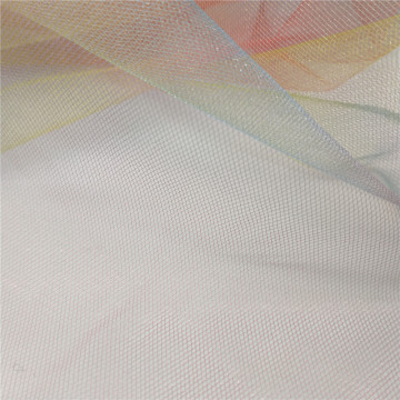 Rainbow soft tulle mesh fabric for dress
