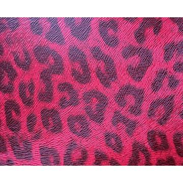 Embossed mouse and leopard pattern  PU leather