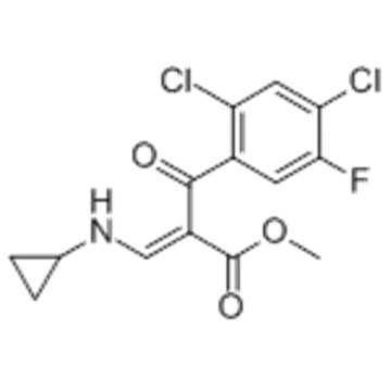 Benzenepropanoic acid, 2,4-dichloro-α-[(cyclopropylamino)methylene]-5-fluoro-β-oxo-, methyl ester CAS 105392-26-5