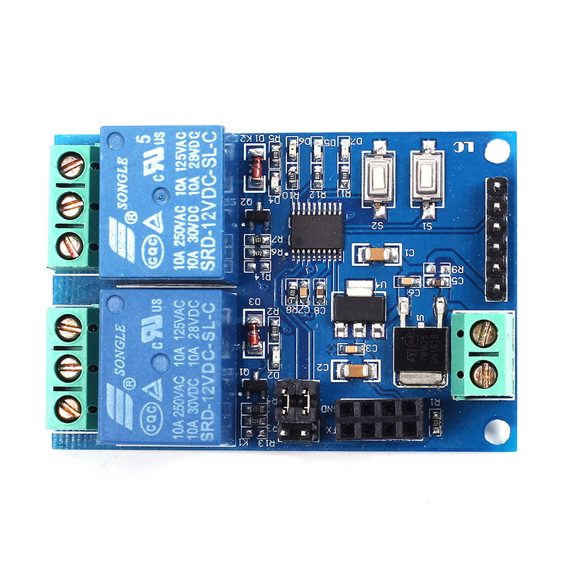 12V WIFI Relay Module ESP8266 IOT APP Remote Controller 2-Channel For Smart Home mobile Phone Automation Board Dual WiFi Module
