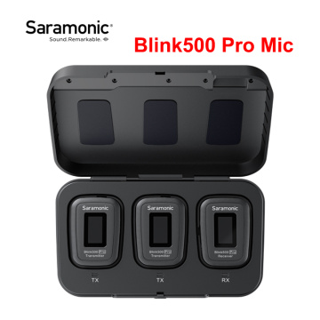 Saramonic Blink 500 Blink500 Pro B1 B2 Wireless Lavalier Microphone Dual Channel Studio Condenser Interview Mic for Phone DSLR