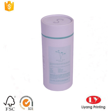 White paper tube box with CMYK printing