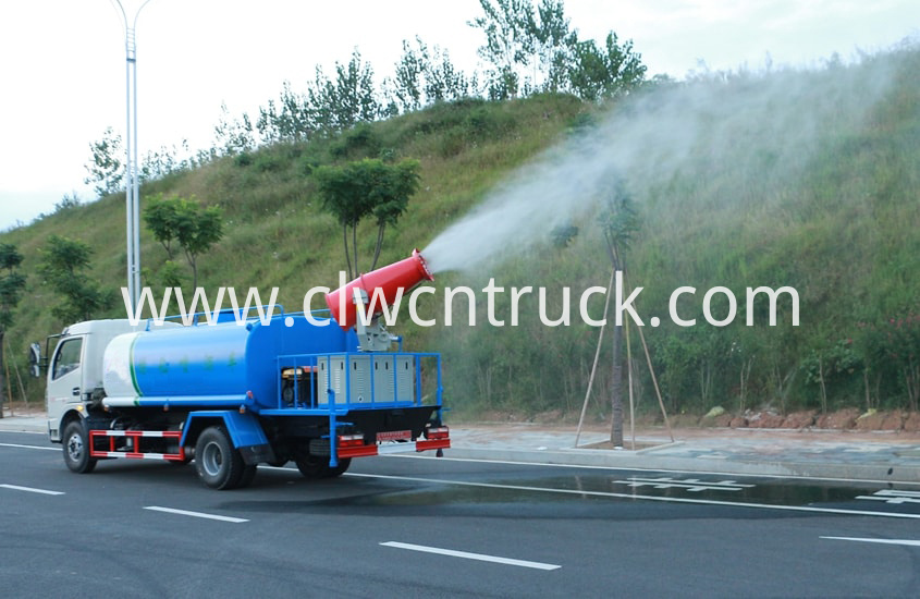 pesticide spraying truck in action 2