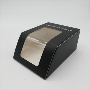 Custom Printed Black Tortilla Box with window