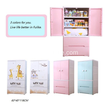 Multi-Layer Cartoon Drawer Divider Toy Clothes Cabinet