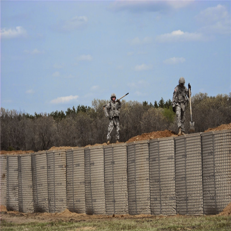 Military sand wall hesco barrier