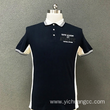 Men's cotton printed polo T-shirt