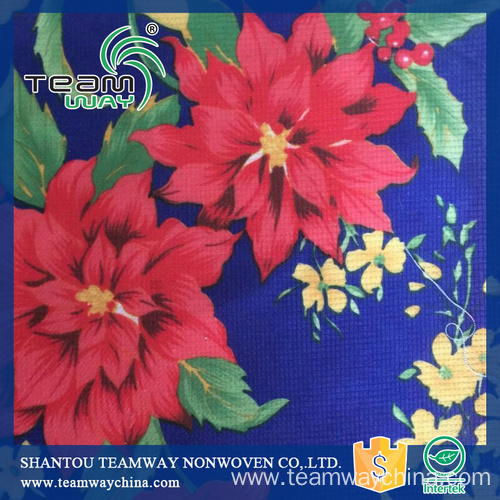 100% Printed Polyester Stitchbond Non-Woven Fabric