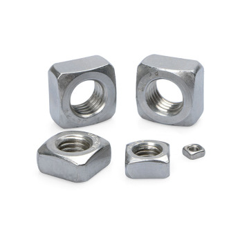 High Quality Blue White Zinc Square Nuts