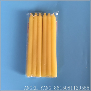 Lower price bright wax white candle