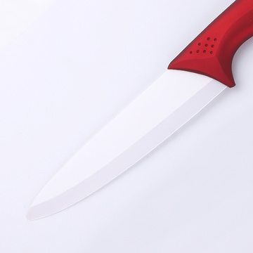 8 Inches Red Rose Handle Ceramic Knife