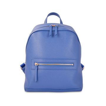 Anello Leather Casual Backpack Rucksack Regular Size Blue