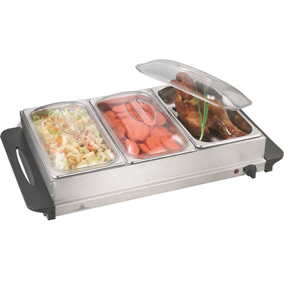 3 Section Buffet Server and Warming Tray