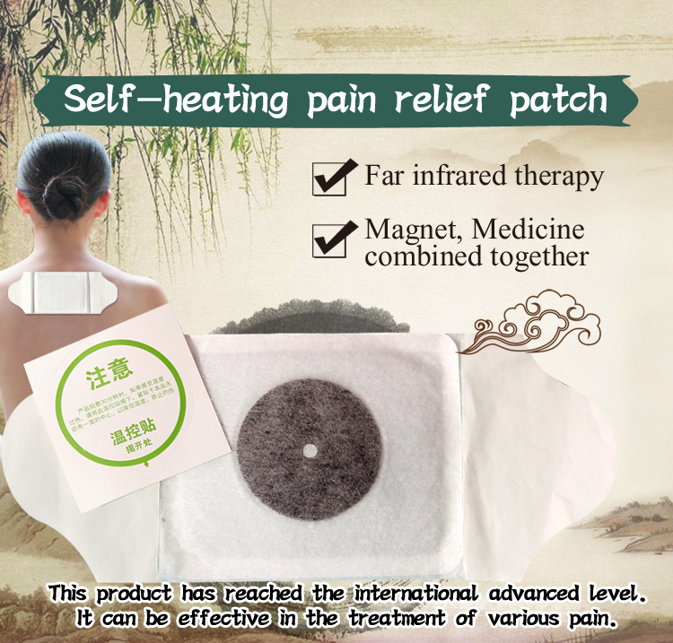 self-heating pain relief patch