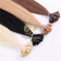 Remy human Nail tip hair extensions