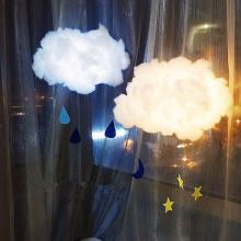 2m DIY Handmade Cute Cotton Cloud Shape Light Hanging Night Light For Birthday Gift Home Bedroom Decor Drop Shipping Sale