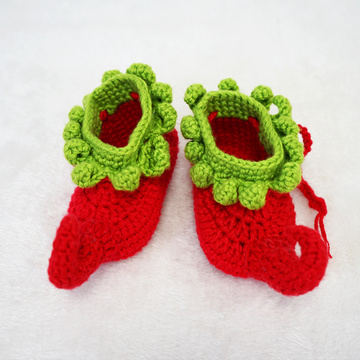 Fashionable Cotton Handmade Crochet Baby Booties