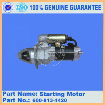 Komatsu starting motor 600-863-4210 SAA6D107E-1 engine parts