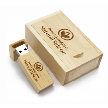 Wood USB Flash Drive with Custom Logo
