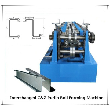 Changeable C Z Purlin Roll Forming Machine