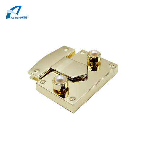 Zinc Alloy Hardware Accessories with Pearl Handbag Lock