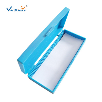 Blue Microscope Slide Storage Box