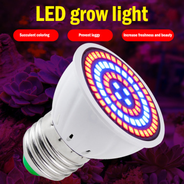 80 LED Plant Grow Light Bulb Cup Indoor Growing Lights Flower Veg Hydroponic Vegetable Potted Bonsai Seeding Lamp SMD2835