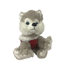 Grey Husky Plush Toy