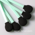 Big Round Head Cleanroom Black Foam Tip Swab