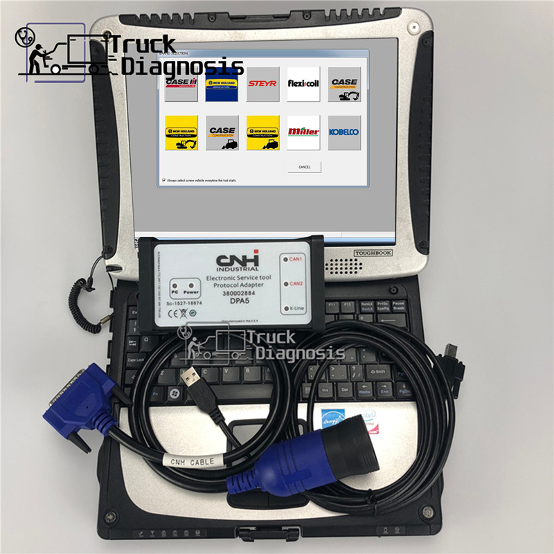 CF19 laptop for New Holland CNH Est DPA5 kit diagnostic tool with cnh est 9.2 Electronic Service Tool