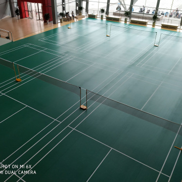 green pvc sports flooring for badminton court