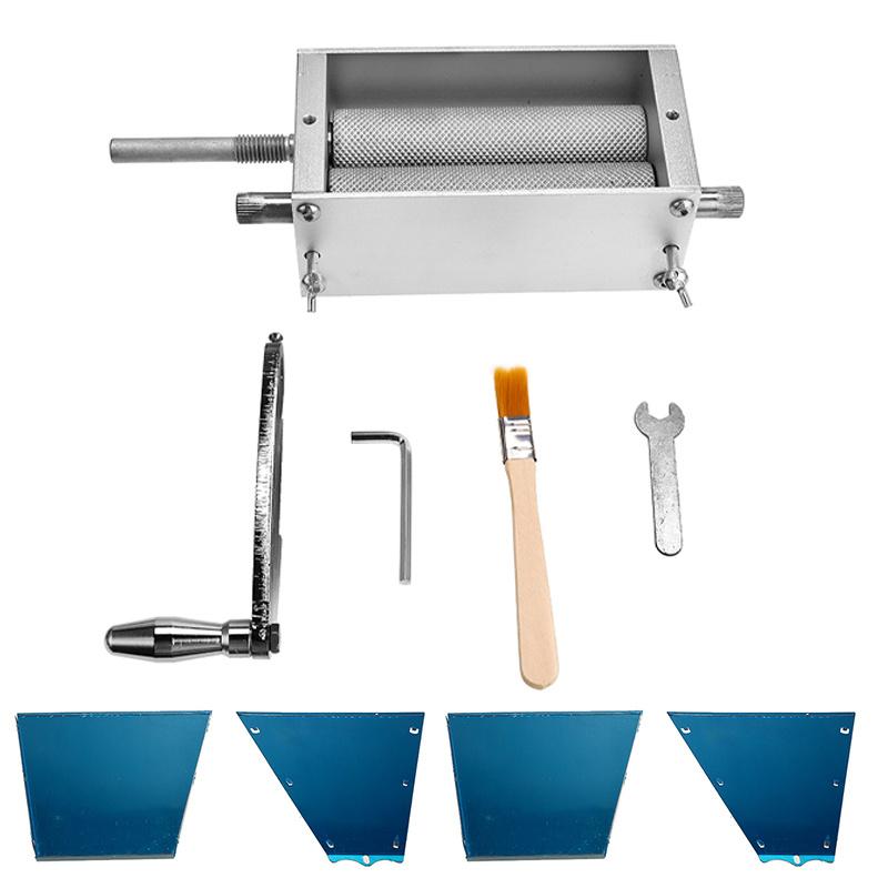 2-Roller Manual Barley Malt Mill Grain Grinder Crusher Mortar and Pestle Corn Peanut Food Grinder Powder for Machine Homebrew