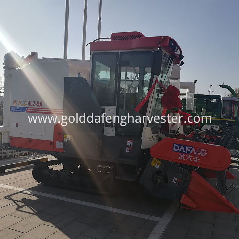 Grain harvester 102hp new rice combine harvester