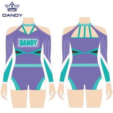 Custom spandex straps cheer uniforms