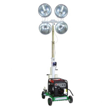 Portable lighting tower LED vertical mast trailer mobile light tower FZM-1000B