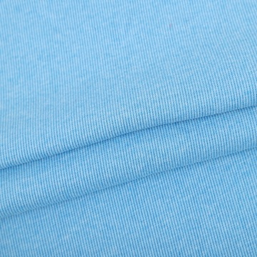 30s polyester cotton elastane 2x2 rib knit fabric