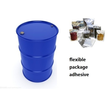 Two-component solvent-free flexible package adhesive