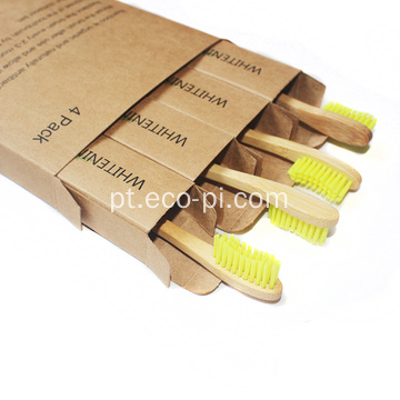 Cerdas de bambu Eco Friendly BPA Free Bamboo Toothbrush
