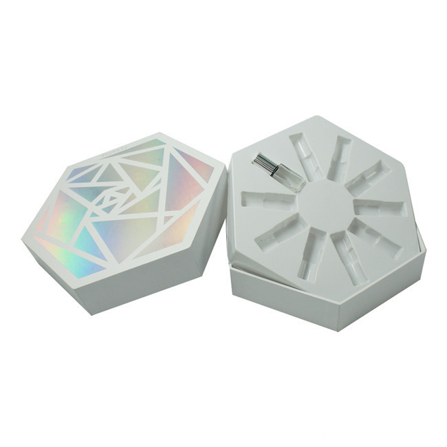 Hexagon Cardboard Essential Oil Gift Box Packaging