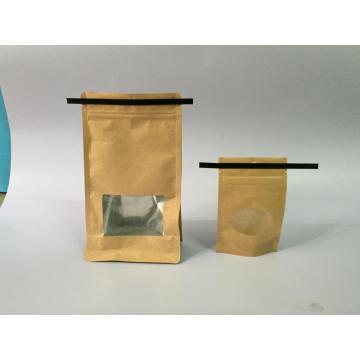 Coffee Doypack with window and Tin tie