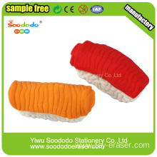 3.6*1.1*1.6cm 3d Salmon Sushi Shaped Eraser