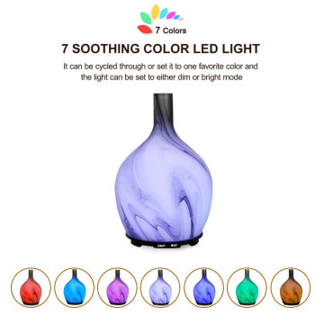 Colored Glass Diffuser Essential Oil Aromatherapy