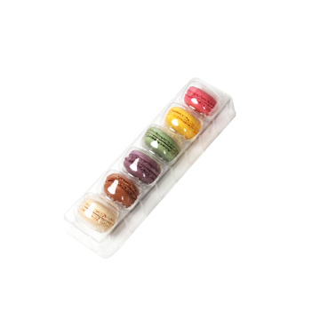 Transparent PET plastic macaron blister tray