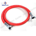 1/4 red smooth braided air compressor hose kit