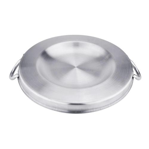 "15.7"" Heavy Duty Stainless Steel Convex Comal"