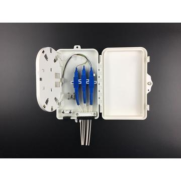 6 cores fiber distribution box 4 plc splitter