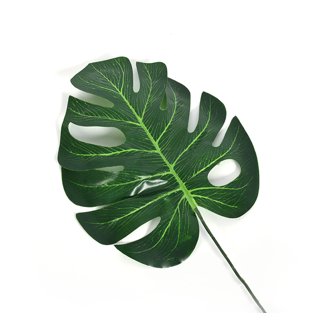 10pcs/pack L/M/S High Simulation Artificial Monstera Tropical Plant Leaf Home Party Office Store Decorations